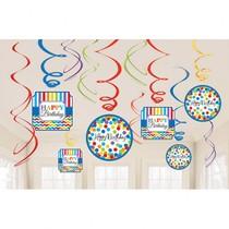 Závěsné dekorace narozeniny 12 ks