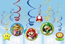 Super Mario závěsné dekorace 12 ks