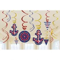 Závěsné dekorace Kotva 12 ks