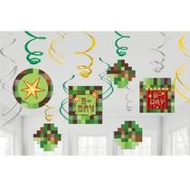 Minecraft - TNT závěsné dekorace 12 ks