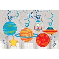Vesmír závěsné dekorace 12 ks, 61 cm