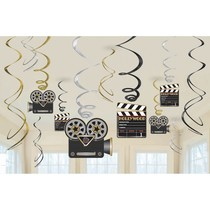 Hollywood závěsné dekorace 12 ks