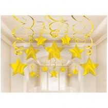Závěsné dekorace zlaté 30ks 80cm