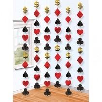 Casino závěsná dekorace 6ks 210cm