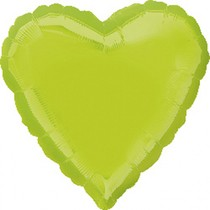 Balonek srdce foliové Lime Green