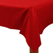 Ubrus červený 137 x 274 cm