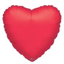 Balónek srdce červené metalické JUMBO 81cm