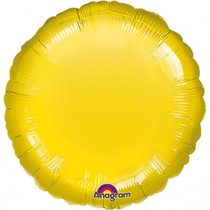 Balónek kruh žlutý Metallic