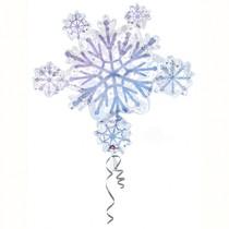 Vločka hvězda balónek 60 cm