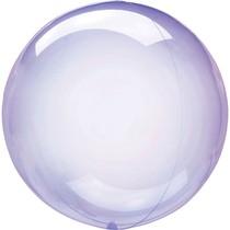 Průhledný balón světle fialový 45 cm