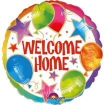 Balónek fóliový - Vítej doma 43 cm