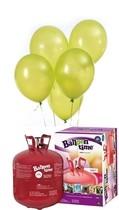 Helium Balloon time + balónky světle zelené 50ks
