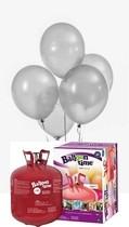 Helium Balloon time + balónky stříbrné metalické