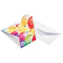 Pozvánky balónky 8 ks