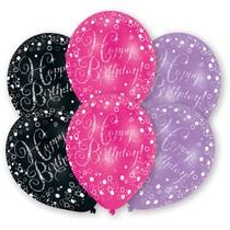 Balónky narozeniny 6 ks mix barev