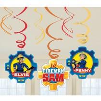 Požárník Sam závěsné dekorace 6 ks 61 cm