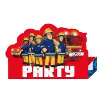 Požárník Sam pozvánky na party 8 ks