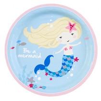 Mořská panna talířky 8 ks 23 cm