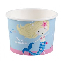 Mořská panna kelímky na zmrzlinu 8 ks 270 ml