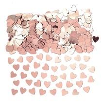 Srdíčka konfety růžovo-zlaté 14 g
