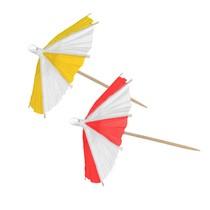 Papírové deštníky 10 ks