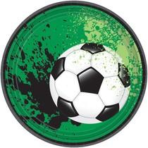 Talíře fotbal 8 ks 18 cm
