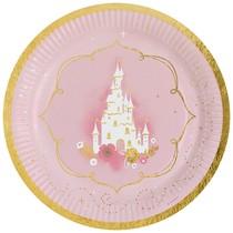 Princess talíře papírové 8 ks 23 cm