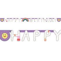 Prasátko Peppa narozeniny nápis 250 cm x 15 cm