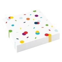 Ubrousky konfety 20 ks 33 cm x 33 cm 3-vrstvé