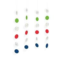 Závěsné dekorace konfety 4 ks 130 cm