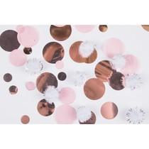 Konfety zlato-růžové papírové / plastové 16 g