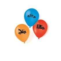 Balónky auta 6 ks 23 cm