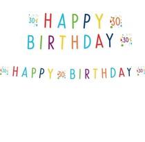 30. narozeniny nápis s puntíky 180 cm x 14 cm