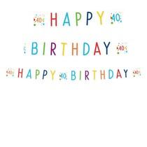 40. narozeniny nápis s puntíky 180 cm x 14 cm