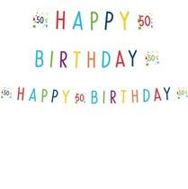 50.  narozeniny nápis s puntíky 180 cm x 14 cm