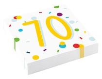 70. narozeniny ubrousky 20 ks 33 cm x 33 cm, 3-vrstvé