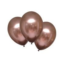 Párty balónky chromové růžovo-zlaté 6 ks 27,5 cm
