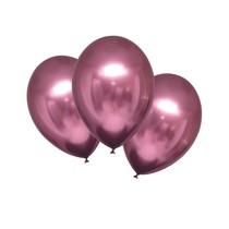 Balónky chromové růžové 6 ks 27,5 cm