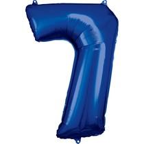 Balónky fóliové narozeniny číslo 7 modré 86cm