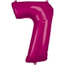 Balónky fóliové narozeniny číslo 7 růžové 86cm