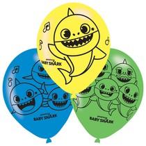 Baby Shark balónky 6 ks 27,5 cm mix