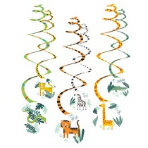 Safari závěsné dekorace 6 ks