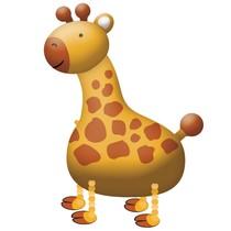 Žirafa balónek chodící 109 cm x 89 cm