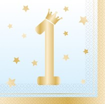 1. narozeniny ubrousky klučičí 16 ks 33 cm x 33 cm