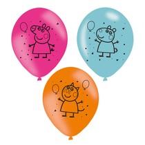 Prasátko Peppa balónky 6 ks 23 cm