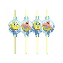 SpongeBob slámky na pití 8ks