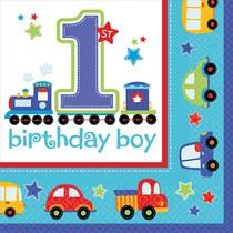 Ubrousky 1. narozeniny kluk 16 ks 33 cm x 33 cm