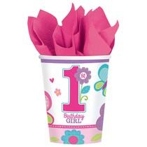 Kelímky 1. narozeniny holka 8 ks 266 ml