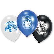 Police balonky 6ks 22,8cm