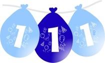 Narozeninové balónky na první narozeniny modré.